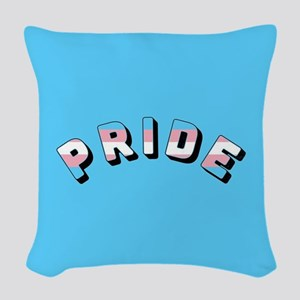 Trans Pride Woven Throw Pillow