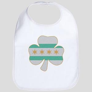 Irish Chicago flag shamrock Bib