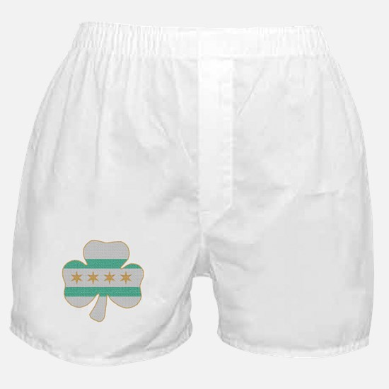 Irish Chicago flag shamrock Boxer Shorts