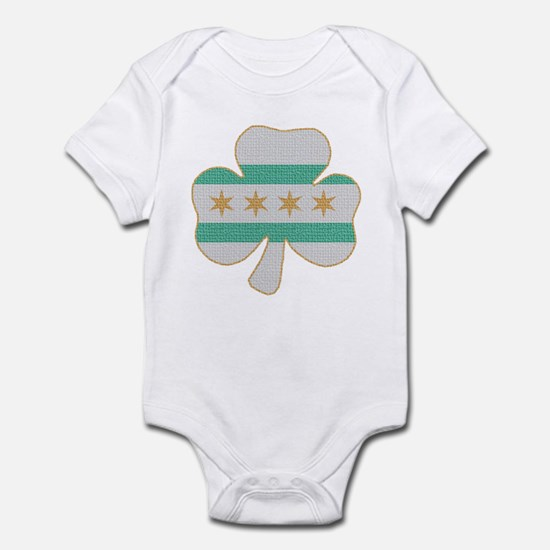 Irish Chicago flag shamrock Infant Bodysuit