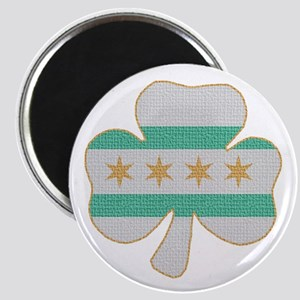 Irish Chicago flag shamrock Magnet
