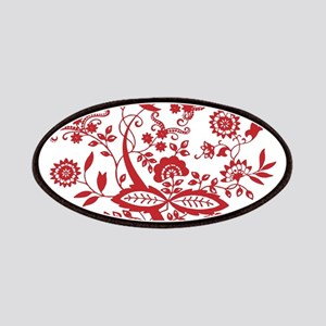 Red Floral Elegance Patches