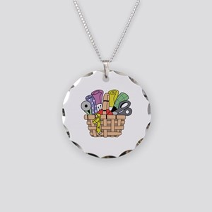 SEWING QUILTING BASKET Necklace
