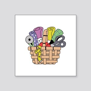SEWING QUILTING BASKET Sticker