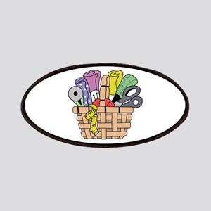 SEWING QUILTING BASKET Patches