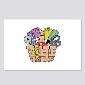 SEWING QUILTING BASKET Postcards (Package of 8)