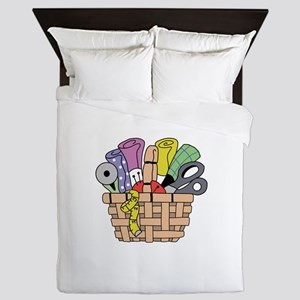 SEWING QUILTING BASKET Queen Duvet