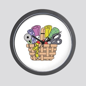 SEWING QUILTING BASKET Wall Clock