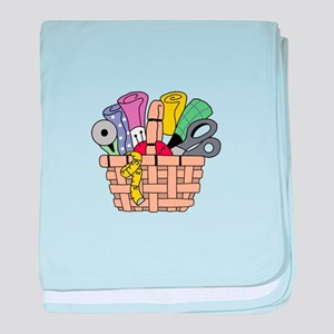 SEWING QUILTING BASKET baby blanket