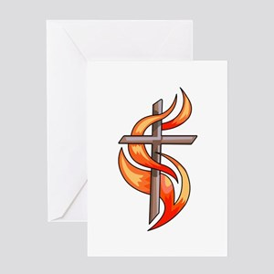 METHODIST CROSS Greeting Cards