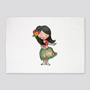 HULA DANCER 5'x7'Area Rug