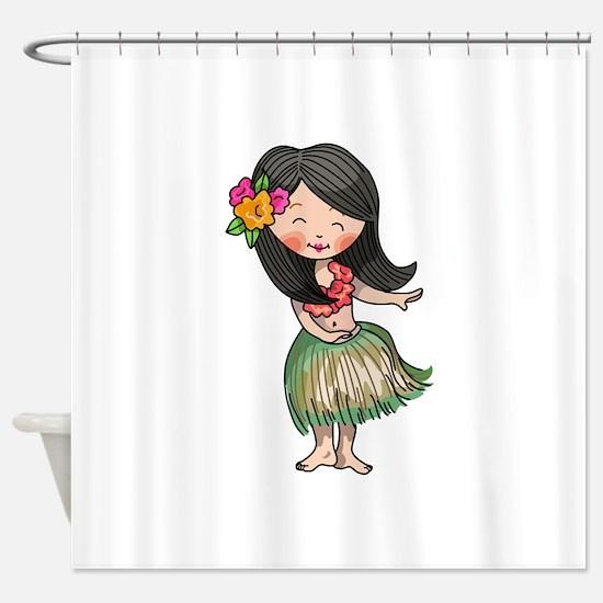HULA DANCER Shower Curtain