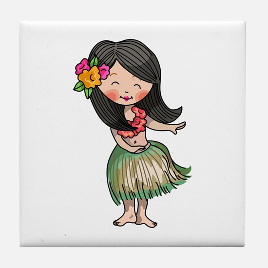 HULA DANCER Tile Coaster