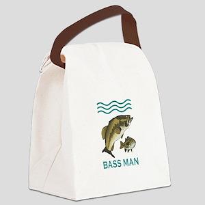 BASS MAN Canvas Lunch Bag