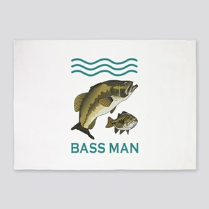 BASS MAN 5'x7'Area Rug