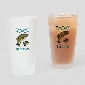 BASS MAN Drinking Glass