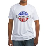 Patriotic American Infidel Fitted T-Shirt
