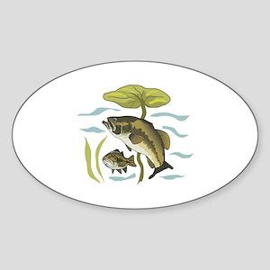 BASS FISH AND LILYPAD Sticker