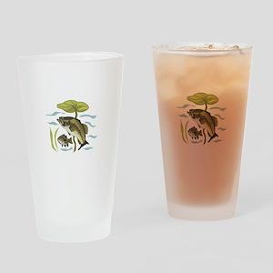 BASS FISH AND LILYPAD Drinking Glass