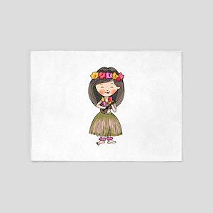 Hula Dancer 5'x7'Area Rug