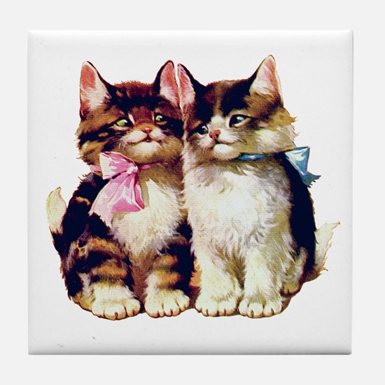 CATS MEOW Tile Coaster