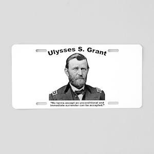 Grant: Unconditional Aluminum License Plate