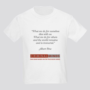 ALBERT PINE QUOTE Kids Light T-Shirt