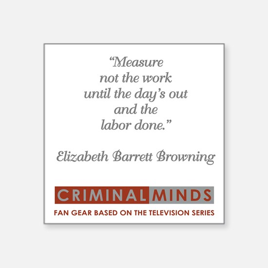 """BROWNING QUOTE Square Sticker 3"""" x 3"""""""