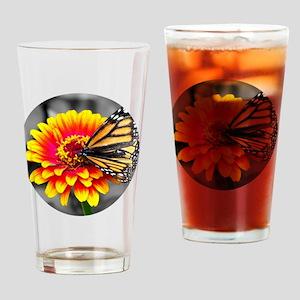 Butterfly On Flower Drinking Glass