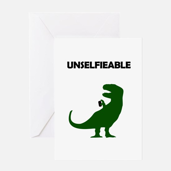 Unselfieable T-Rex Greeting Cards