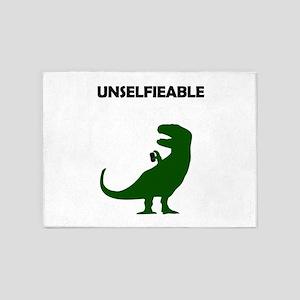 Unselfieable T-Rex 5'x7'Area Rug