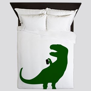 Unselfieable T-Rex Queen Duvet