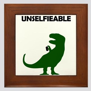 Unselfieable T-Rex Framed Tile