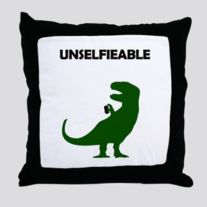 Unselfieable T-Rex Throw Pillow