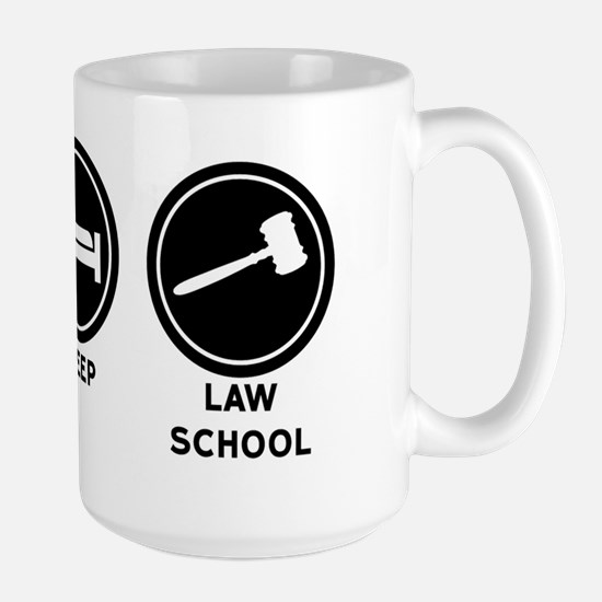 Eat Sleep Law School Large Mug