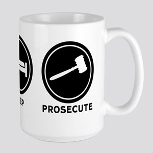 Eat Sleep Prosecute Large Mug