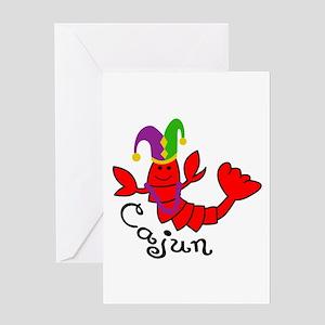 MARDI GRAS CAJUN CRAWFISH Greeting Cards