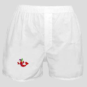MARDI GRAS CRAWFISH Boxer Shorts