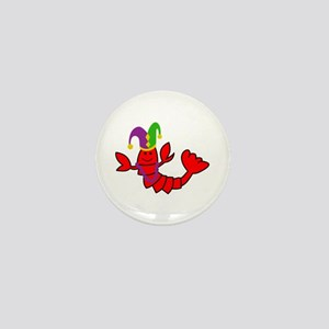 MARDI GRAS CRAWFISH Mini Button