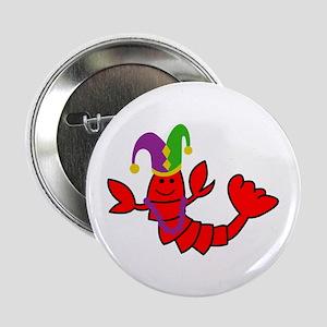"""MARDI GRAS CRAWFISH 2.25"""" Button (10 pack)"""
