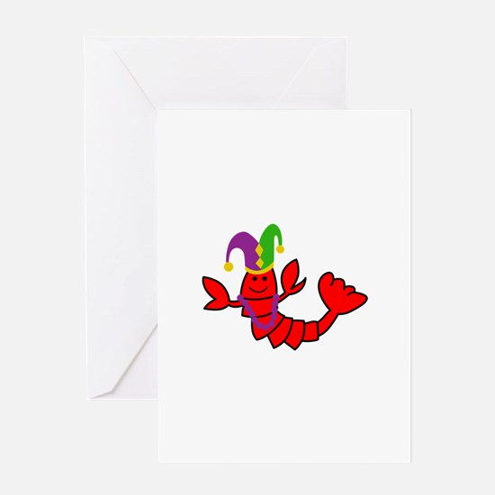 MARDI GRAS CRAWFISH Greeting Cards