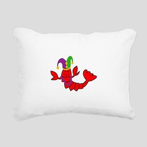 MARDI GRAS CRAWFISH Rectangular Canvas Pillow