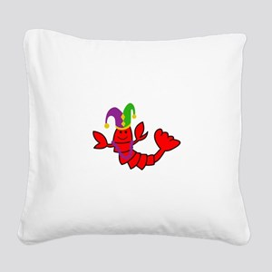 MARDI GRAS CRAWFISH Square Canvas Pillow