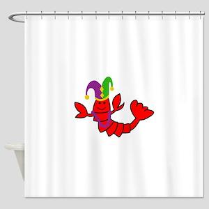 MARDI GRAS CRAWFISH Shower Curtain