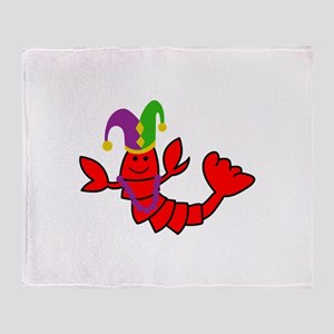 MARDI GRAS CRAWFISH Throw Blanket
