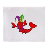 Crawfish mardi gras Fleece Blankets