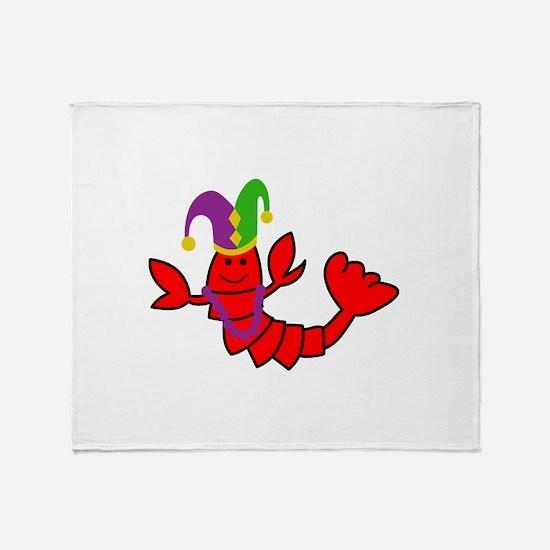 MARDI GRAS CRAWFISH Throw Blanket