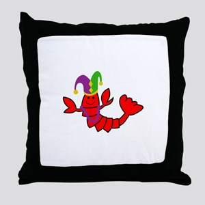 MARDI GRAS CRAWFISH Throw Pillow
