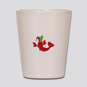MARDI GRAS CRAWFISH Shot Glass