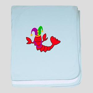 MARDI GRAS CRAWFISH baby blanket